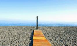 Strand in de ochtend Royalty-vrije Stock Foto