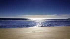Strand in de ochtend Stock Afbeelding
