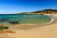 Strand DE Petra Muna, dichtbij Calvi in Corsica Stock Fotografie