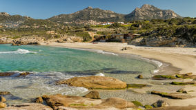Strand DE Petra Muna, dichtbij Calvi in Corsica Stock Foto