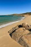 Strand DE Petra Muna, dichtbij Calvi in Corsica Stock Afbeeldingen