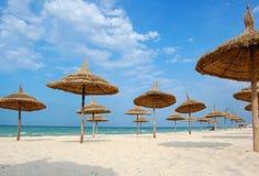Strand in de stad van Souss stock foto