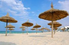 Strand in de stad van Souss Royalty-vrije Stock Afbeeldingen