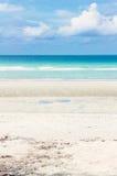 Strand in de zomer Royalty-vrije Stock Foto