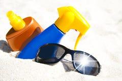 Strand, de zomer en vakantie royalty-vrije stock fotografie