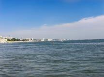 Strand in de Zwarte Zee Stock Foto