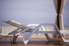 Strand deckchair Stock Afbeelding