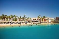 Strand in dem Roten Meer auf Ägypter Hurghada lizenzfreies stockbild
