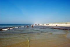 Strand in Denemarken royalty-vrije stock afbeelding