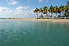Strand der Costa Esmeralda auf Dominikanischer Republik Stockfotos
