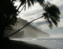 Strand an der Dämmerung Lizenzfreies Stockfoto