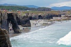 Strand der Kathedralen stockbilder