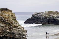 Strand der Kathedralen lizenzfreie stockfotos