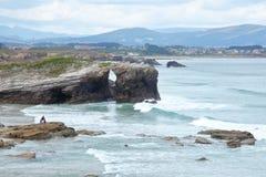 Strand der Kathedralen lizenzfreies stockfoto