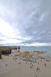 Strand der Kathedralen lizenzfreies stockbild