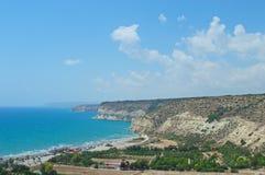 Strand in der Nähe von dem alten Kourion Lizenzfreie Stockfotografie