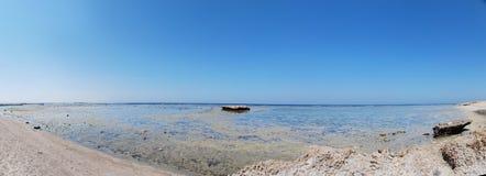 Strand der niedrigen Gezeiten Stockfotografie