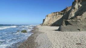Strand der Ostseeküste bei Wustrow Wasser und Wellen Deutschland stock video footage