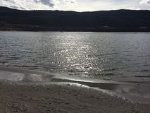 Strand in der Stadt von Kamloops Lizenzfreie Stockbilder