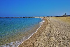 Strand des Garrucha von Carboneras Almeria Andalusia Spain stockfotos