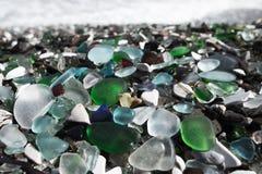 Strand des Glaskiesels Lizenzfreie Stockfotos