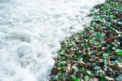 Strand des Glaskiesels Lizenzfreies Stockbild