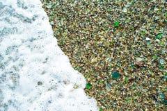 Strand des Glaskiesels Lizenzfreie Stockfotografie
