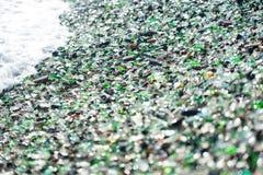 Strand des Glaskiesels Lizenzfreie Stockbilder