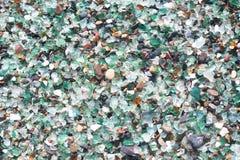 Strand des Glaskiesels Stockfoto
