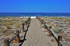 Strand des las Almadraba de Monteleva O Salinen cabo Des Gata Nijar Almeria Andalusia Spain stockfoto