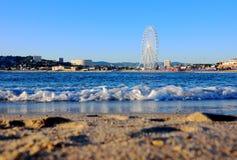 Strand des Meeres im Süden von Frankreich lizenzfreies stockbild