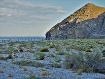 Strand des Muertos von Carboneras Almeria Andalusia Spain stockbild