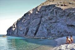Strand des Muertos von Carboneras Almeria Andalusia Spain lizenzfreie stockbilder