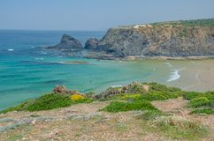 Strand des Praia DAS Adegas nahe Odeceixe, Portugal Stockfotografie