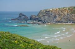 Strand des Praia DAS Adegas nahe Odeceixe, Portugal Stockfotos