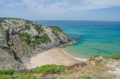 Strand des Praia DAS Adegas nahe Odeceixe, Portugal Stockbilder