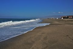 Strand des San Miguel cabo Des Gata Nijar Almeria Andalusia Spain stockfotografie