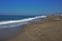 Strand des San Miguel cabo Des Gata Nijar Almeria Andalusia Spain lizenzfreies stockfoto
