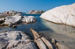 Strand des weißen Granits Lizenzfreie Stockfotografie