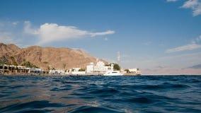 Strand dichtbij de grenscontrole van Taba Stock Afbeelding