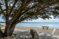 Strand dichtbij jard-sur-MER, vendee, Frankrijk Stock Foto's