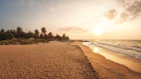 Strand dichtbij Kalpitiya, Sri Lanka Stock Foto's