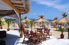 Strand dichtbij Nessebar, Bulgary Royalty-vrije Stock Foto's
