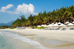Strand Doc. Let mit weißem Sand, Vietnam Lizenzfreies Stockfoto