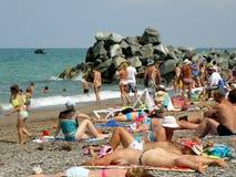 Strand door het overzees royalty-vrije stock fotografie