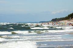 Strand door het overzees BaÅ 'tycim Stock Afbeelding
