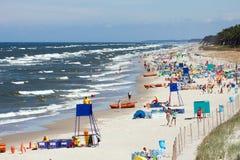 Strand door het overzees BaÅ 'tycim Royalty-vrije Stock Foto