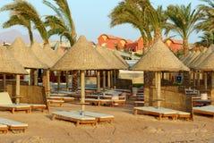 Strand in Egypte Royalty-vrije Stock Afbeelding