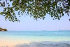Strand in eiland Stock Afbeeldingen