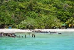 Strand in eiland Culebra Stock Foto's